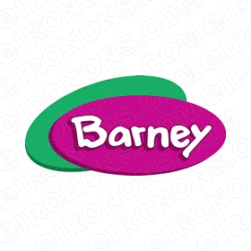 BARNEY LOGO CHARACTER T-SHIRT IRON-ON TRANSFER DECAL #CB1