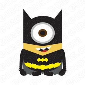 BATMAN DESPICABLE ME MINION COMIC T-SHIRT IRON-ON TRANSFER DECAL #CBM4