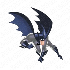 BATMAN FLYING COMIC T-SHIRT IRON-ON TRANSFER DECAL #CBM7