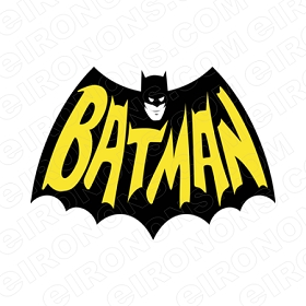 BATMAN LOGO BLACK AND YELLOW COMIC T-SHIRT IRON-ON TRANSFER DECAL #CBM5