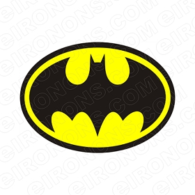 BATMAN LOGO YELLOW COMIC T-SHIRT IRON-ON TRANSFER DECAL #CBM1