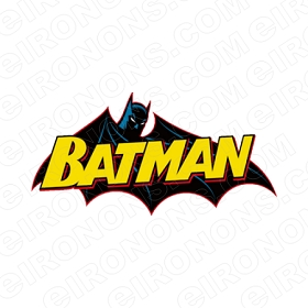 BATMAN LOGO YELLOW COMIC T-SHIRT IRON-ON TRANSFER DECAL #CBM2