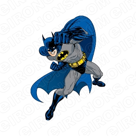 BATMAN READY TO FIGHT COMIC T-SHIRT IRON-ON TRANSFER DECAL #CBM3