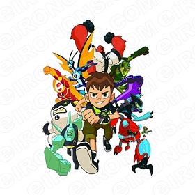 BEN 10 GROUP POSE CHARACTER T-SHIRT IRON-ON TRANSFER DECAL #CB10 4