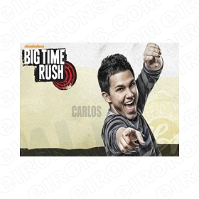 BIG TIME RUSH CARLOS MUSIC T-SHIRT IRON-ON TRANSFER DECAL #MBTR1