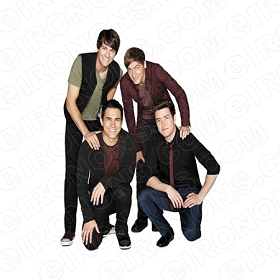 BIG TIME RUSH GROUP POSE MUSIC T-SHIRT IRON-ON TRANSFER DECAL #MBTR4