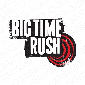 BIG TIME RUSH LOGO MUSIC T-SHIRT IRON-ON TRANSFER DECAL #MBTR12