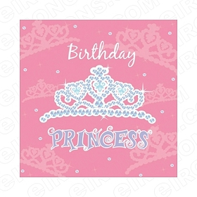 BIRTHDAY PRINCESS 3 T-SHIRT IRON-ON TRANSFER DECAL #BP3