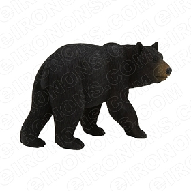 BLACK BEAR WALKING ANIMAL BEAR T-SHIRT IRON-ON TRANSFER DECAL #ABLB5