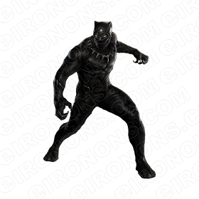 BLACK PANTHER COMIC T-SHIRT IRON-ON TRANSFER DECAL #CBP1