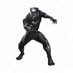 BLACK PANTHER COMING COMIC T-SHIRT IRON-ON TRANSFER DECAL #CBP2