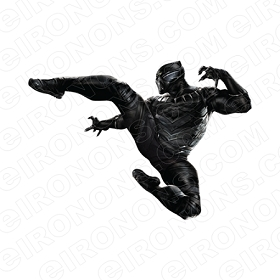 BLACK PANTHER KICK COMIC T-SHIRT IRON-ON TRANSFER DECAL #CBP5
