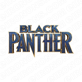 BLACK PANTHER LOGO COMIC T-SHIRT IRON-ON TRANSFER DECAL #CBP6