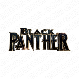 BLACK PANTHER LOGO COMIC T-SHIRT IRON-ON TRANSFER DECAL #CBP8