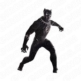 BLACK PANTHER READY COMIC T-SHIRT IRON-ON TRANSFER DECAL #CBP9