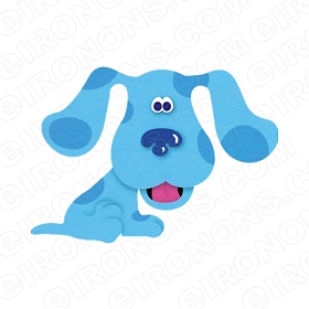 BLUE'S CLUES BLUE CHARACTER T-SHIRT IRON-ON TRANSFER DECAL #CBC2
