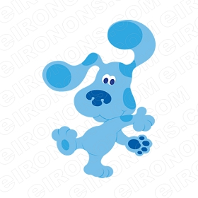 BLUE'S CLUES BLUE DANCING CHARACTER T-SHIRT IRON-ON TRANSFER DECAL #CBC3
