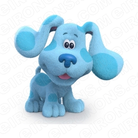 BLUE'S CLUES BLUE HAPPY CHARACTER T-SHIRT IRON-ON TRANSFER DECAL #CBC4