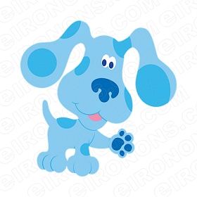 BLUE'S CLUES BLUE PAW OUT CHARACTER T-SHIRT IRON-ON TRANSFER DECAL #CBC6