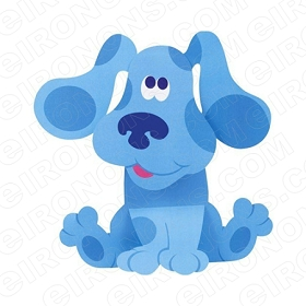 BLUE'S CLUES BLUE SITTING CHARACTER T-SHIRT IRON-ON TRANSFER DECAL #CBC8