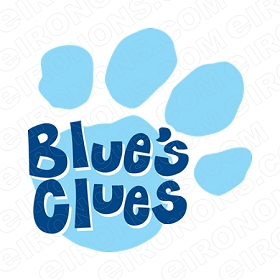 BLUE'S CLUES LOGO CHARACTER T-SHIRT IRON-ON TRANSFER DECAL #CBC10