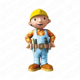 BOB THE BUILDER BOB FRONT VIEW CHARACTER T-SHIRT IRON-ON TRANSFER DECAL #CBTB3