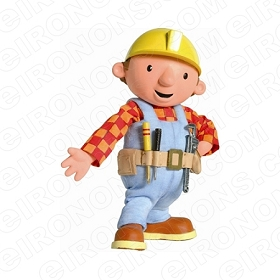 BOB THE BUILDER BOB HAND OUT CHARACTER T-SHIRT IRON-ON TRANSFER DECAL #CBTB4