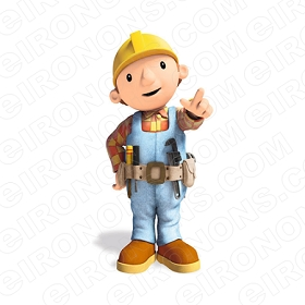 BOB THE BUILDER BOB POINTING CHARACTER T-SHIRT IRON-ON TRANSFER DECAL #CBTB6
