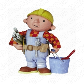 BOB THE BUILDER BOB WORKING CHARACTER T-SHIRT IRON-ON TRANSFER DECAL #CBTB8