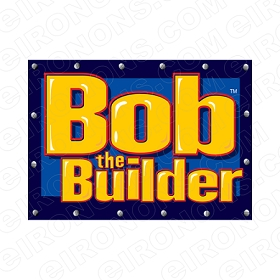 BOB THE BUILDER LOGO CHARACTER T-SHIRT IRON-ON TRANSFER DECAL #CBTB9