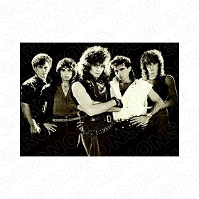 BON JOVI GROUP POSE 3 MUSIC T-SHIRT IRON-ON TRANSFER DECAL #MBJ9