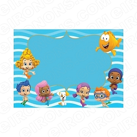BUBBLE GUPPIES BLANK EDITABLE INVITATION INSTANT DOWNLOAD #IBG1
