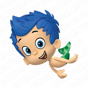 BUBBLE GUPPIES DIGITAL GIL SWIMMING CLIPART PNG IMAGE SCRAPBOOK INSTANT DOWNLOAD
