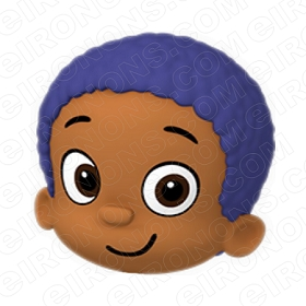 BUBBLE GUPPIES DIGITAL GOBY BIG HEAD CLIPART PNG IMAGE SCRAPBOOK INSTANT DOWNLOAD