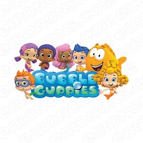 BUBBLE GUPPIES DIGITAL GROUP POSE ON LOGO CLIPART PNG IMAGE SCRAPBOOK INSTANT DOWNLOAD