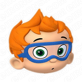 BUBBLE GUPPIES DIGITAL NONNY BIG HEAD O CLIPART PNG IMAGE SCRAPBOOK INSTANT DOWNLOAD