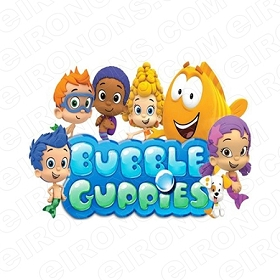 BUBBLE GUPPIES LOGO CHARACTER T-SHIRT IRON-ON TRANSFER DECAL #CBG2