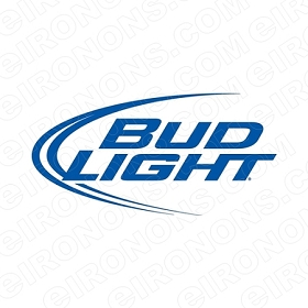 BUD LIGHT LOGO ALCOHOL T-SHIRT IRON-ON TRANSFER DECAL #ABL1