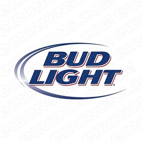 BUD LIGHT LOGO ALCOHOL T-SHIRT IRON-ON TRANSFER DECAL #ABL2