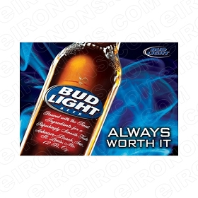 BUD LIGHT LOGO ALCOHOL T-SHIRT IRON-ON TRANSFER DECAL #ABL3