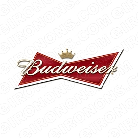 BUDWEISER LOGO ALCOHOL T-SHIRT IRON-ON TRANSFER DECAL #ABW2