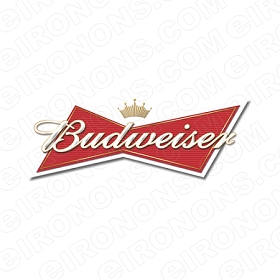 BUDWEISER LOGO RED ALCOHOL CLIPART PNG IMAGE SCRAPBOOK INSTANT DOWNLOAD