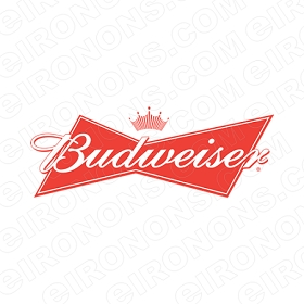 BUDWEISER LOGO WHITE TEXT ALCOHOL CLIPART PNG IMAGE SCRAPBOOK INSTANT DOWNLOAD