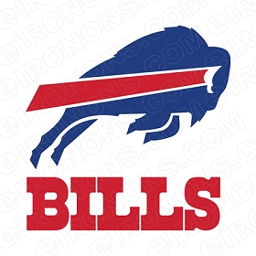 BUFFALO BILLS ALTERNATE LOGO SPORTS NFL FOOTBALL T-SHIRT IRON-ON TRANSFER DECAL #SFBB1