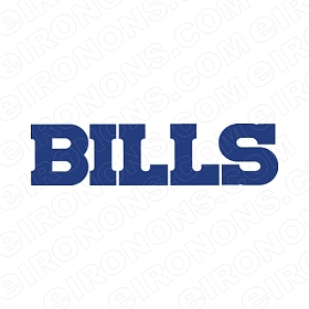 BUFFALO BILLS WORD MARK BLUE LOGO SPORTS NFL FOOTBALL T-SHIRT IRON-ON TRANSFER DECAL #SFBB4