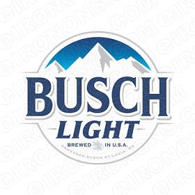 BUSCH LIGHT LOGO 3 ALCOHOL T-SHIRT IRON-ON TRANSFER DECAL #AB6