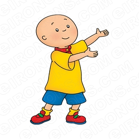 CAILLOU HANDS OUT CHARACTER T-SHIRT IRON-ON TRANSFER DECAL #CC4