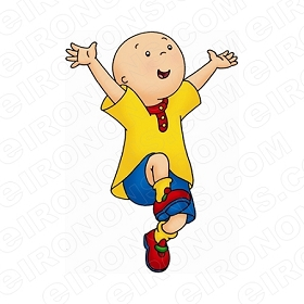 CAILLOU JUMPING CHARACTER T-SHIRT IRON-ON TRANSFER DECAL #CC5