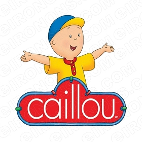 CAILLOU LOGO CHARACTER T-SHIRT IRON-ON TRANSFER DECAL #CC7