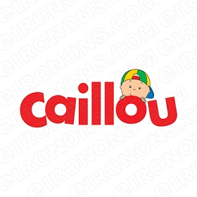 CAILLOU LOGO CHARACTER T-SHIRT IRON-ON TRANSFER DECAL #CC8